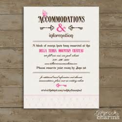 wedding accommodation card items similar to wedding accommodation card