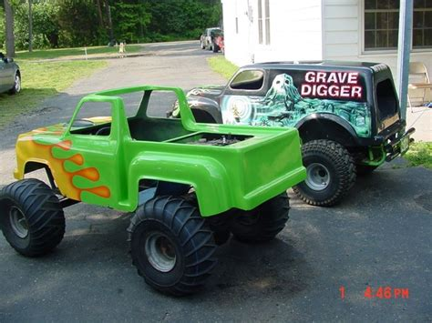 childrens monster truck videos here are my kids mini monster truck go kart grave digger