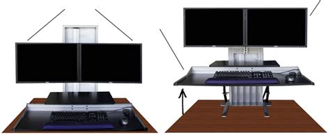 stand at your desk ergotech s sit stand allows you to sit or stand at your