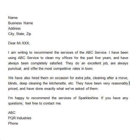 business testimonial template business reference letter 11 free documents in