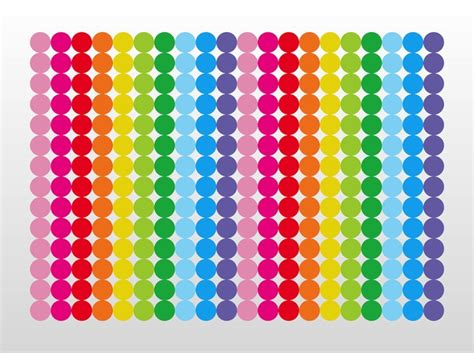 Spotty Wall Stickers abstract rainbow dots geometric shape vector vector free