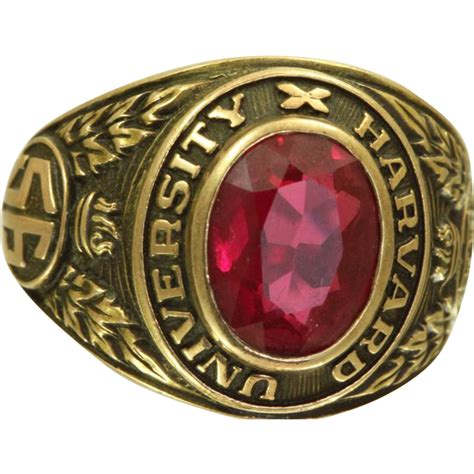 Cost Of Class Ring A M Mba Program by 1956 Harvard Class Ring From