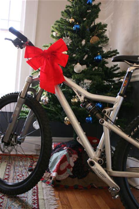 bicycle art christmas tree put a bike someone s tree this year singletracks mountain bike news