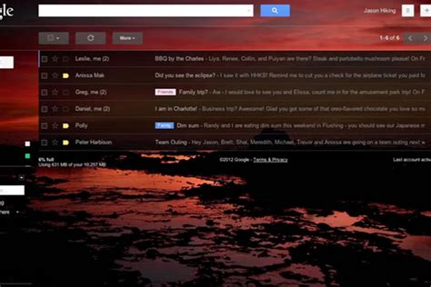 gmail chat themes new gmail custom themes let you set your own background
