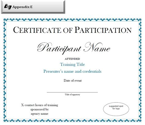 free templates for certificates of participation certificate of participation sle template update234