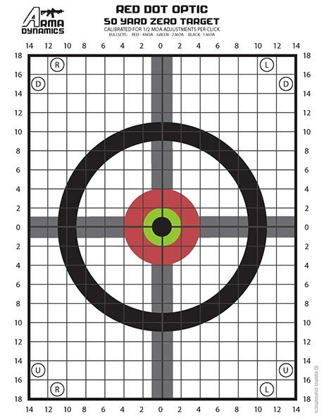 printable targets rifle sighting free printable zero targets optimized for red dot style