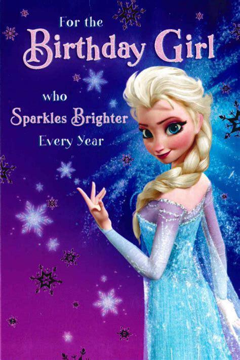 frozen themed birthday messages disney frozen elsa birthday girl card 418995 ebay