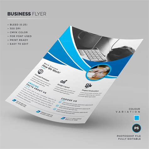 Blue Corporate Flyer Template 000254 Template Catalog Blue Flyer Template