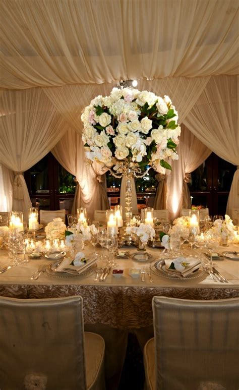 ivory wedding centerpieces ivory wedding centerpieces with gold table