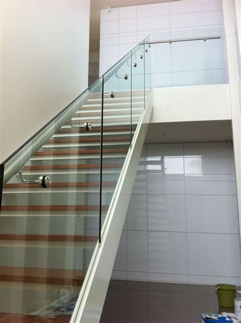 steel banister rails 197 best glass stairs railings images on pinterest
