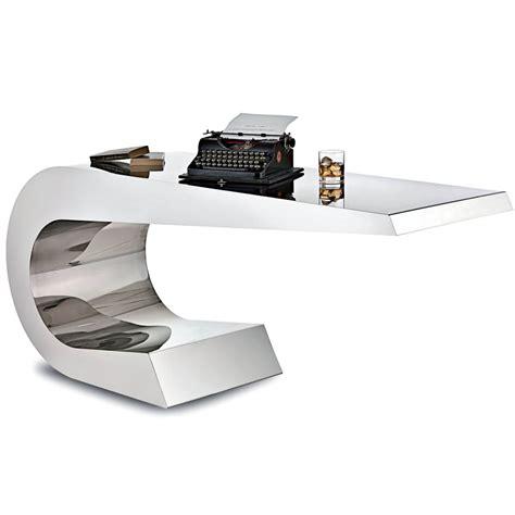 Stainless Steel Office Desk Lamberti Onda C Stainless Steel Desk Stardust