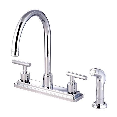 2 Handle Kitchen Faucets Shop Elements Of Design Manhattan Chrome 2 Handle High Arc Kitchen Faucet At Lowes