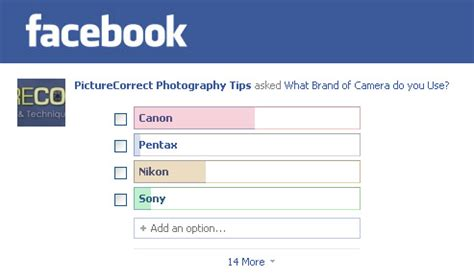 facebook poll: what brand of camera do you use?