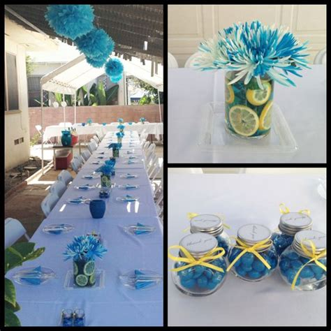 Blue Baby Shower Decorations by Outdoor Baby Shower Decorations Caribbean Blue Colors