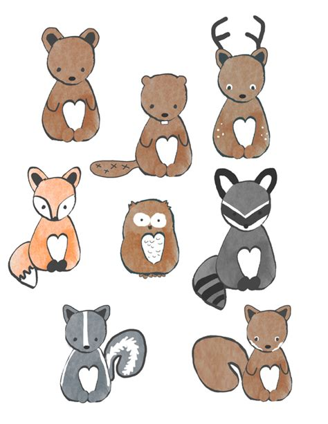 printable animal designs we lived happily ever afterfree forest animal bunting