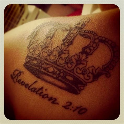 revelation 2 10 tattoo pinterest