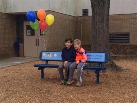 buddy bench video buddy bench helps students make new friends at jones lane elementary school photos