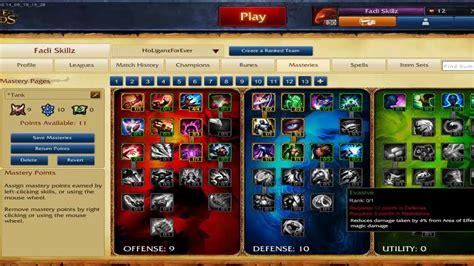 lol best tank league of legends tank masteries