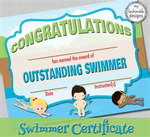 swimming certificates templates search results for free editable certificate