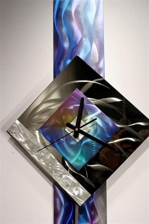 Wall Decor Sculpture by Modern Metal Wall Pendulum Clock Abstract Sculpture