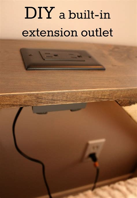 tables with built in power outlets we converted a wall outlet into an extension outlet for