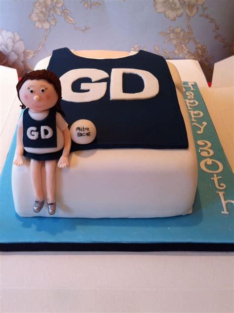 netball cake        figurine    birthday sports pinterest