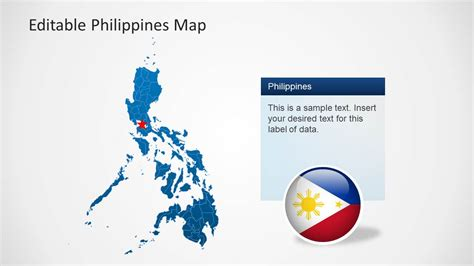 Editable Philippines Map Template For Powerpoint Slidemodel Editable Powerpoint Templates
