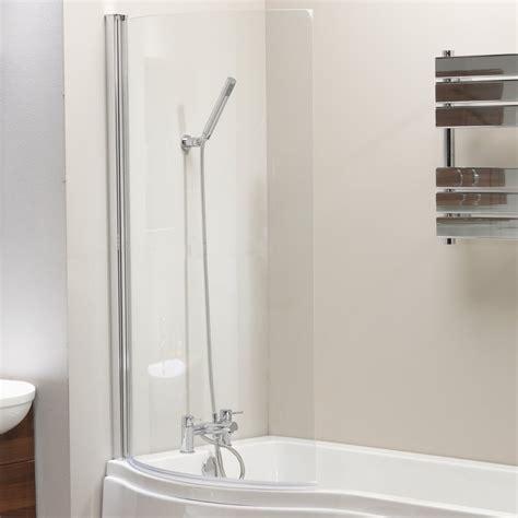 shower screen for p shaped bath genesis california p shaped shower bath screen front