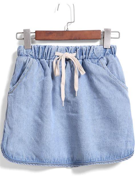 cun denim blue embroidery drawstring pocket denim dress 25 best ideas about drawstring waist on