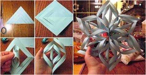 How To Make Paper Snowflakes 3d - how to make 3d paper snowflakes how to