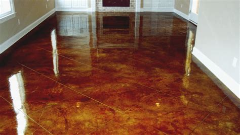How To Stain A Concrete Floor acid stain preparation in portland bach custom coatings