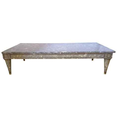 Faux Marble Coffee Table by Faux Marble Top Coffee Table For Sale At 1stdibs