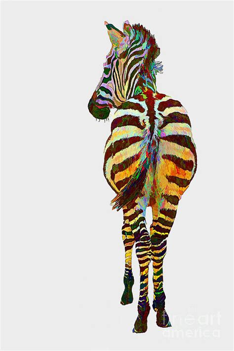 colorful zebra colorful zebra mixed media by teresa zieba