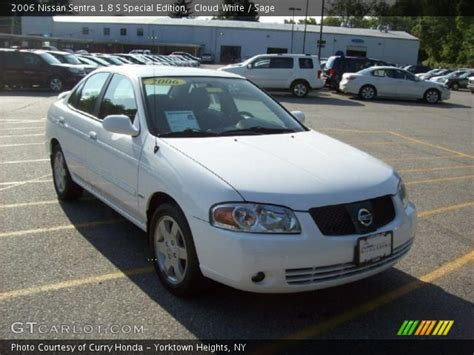 white nissan sentra 2006 cloud white 2006 nissan sentra 1 8 s special edition