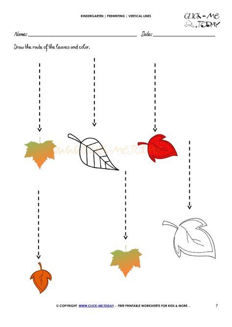 standing line pattern worksheets for kindergarten vertical lines worksheet 7