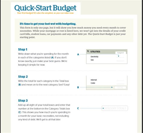quick start budget dave ramsey budget templates