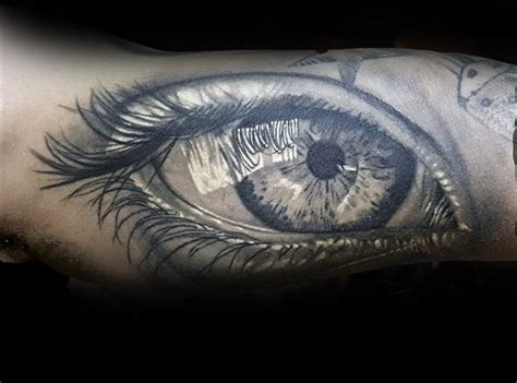 tattoo eye black and grey 50 realistic eye tattoo designs for men visionary ink ideas