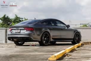 Audi Rs7 Grey Satin Grey Audi Rs7 On Vellano Wheels Is A Supercar Slayer