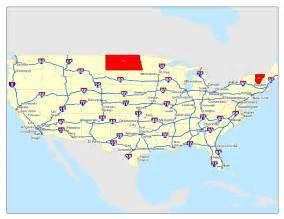 interstate map states in which the most significant interstate highway is