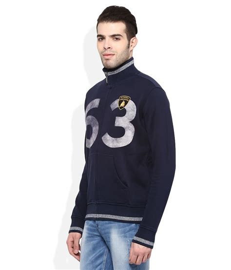 Automobili Lamborghini Clothing by Automobili Lamborghini Navy Zippered Sweatshirt Buy