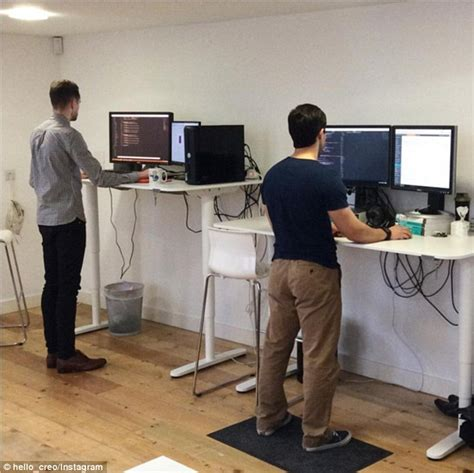 standing up at your desk research finds that workers who use sit stand desks are