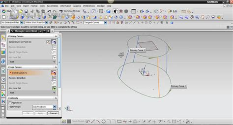 youtube tutorial nx through curve mesh tutorial nx 7 5 youtube