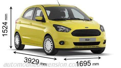 dimensioni di auto ford con lunghezza, larghezza e altezza