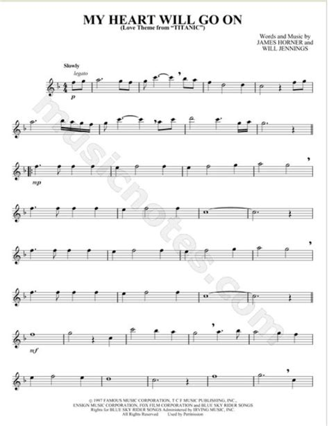 theme song titanic flute sheet music for titanic theme quot my heart will go on