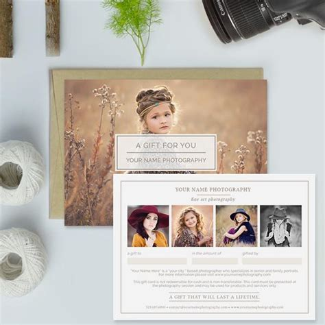 free photoshop card templates for photographers photography studio gift certificate templates gift me