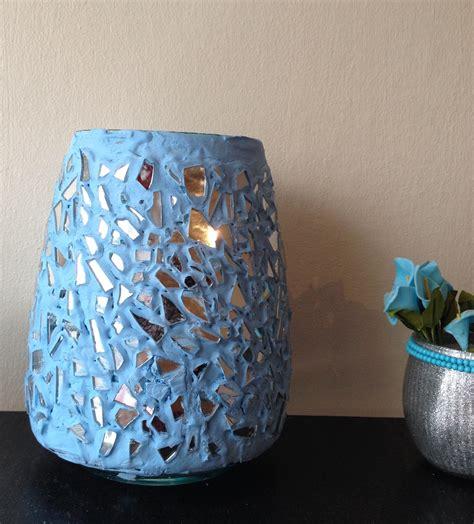 diy glass vase decorations diy mosaic mirrored vase flower vase decoration