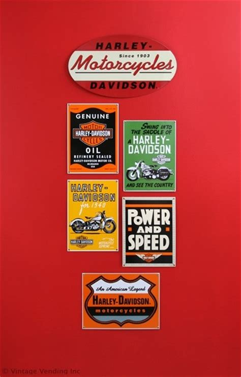 Harley Davidson Decor by Decorating With Harley Davidson Signs