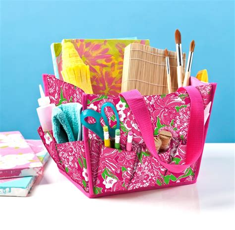 lilly pulitzer bathroom lifeguard press lilly pulitzer tote for desk top or