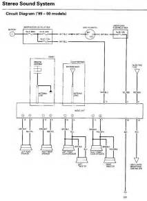 wiring diagram civic audio stereo sound system circuit