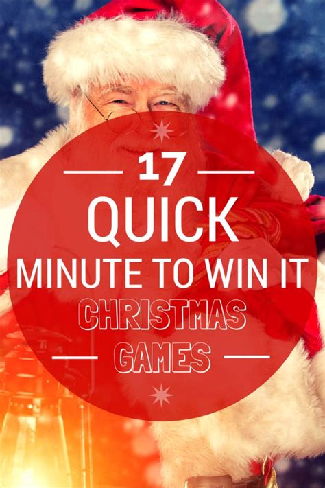 looking for some quick minute to win it christmas games